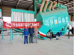 北京三聚秸秆颗粒机使用现场