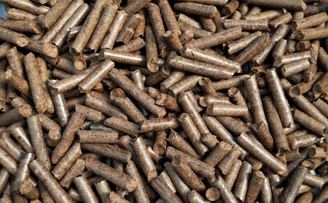 颗粒机加工的木屑颗粒