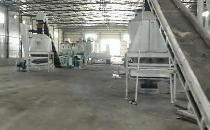 黑河秸秆颗粒机生产线调试现场