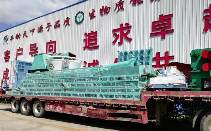 生产线设备准备发往哈尔滨