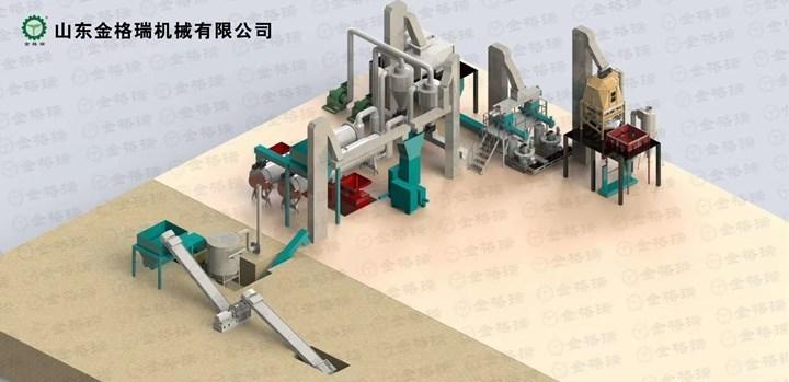 秸秆颗粒机生产线