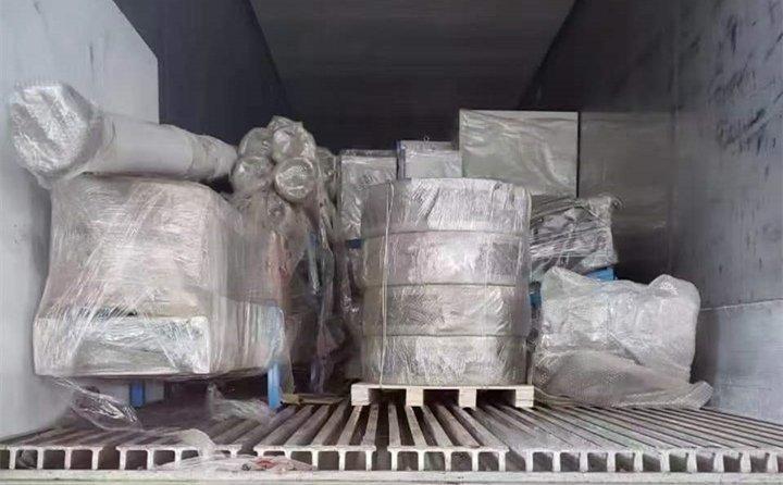 秸秆颗粒机生产线已到达智利
