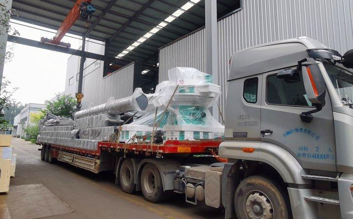 滨州年产8万吨秸秆颗粒机生产线设备发货